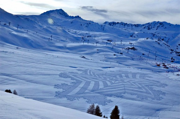 Konst med snöskor