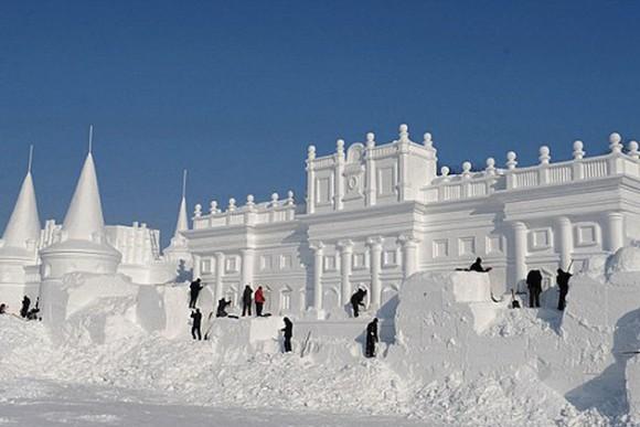 Snöskulpturer i Kina