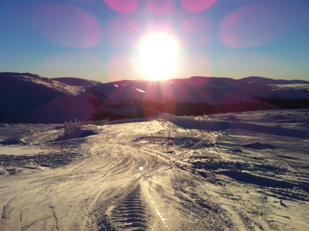 Bydalsfjällen sol i januari