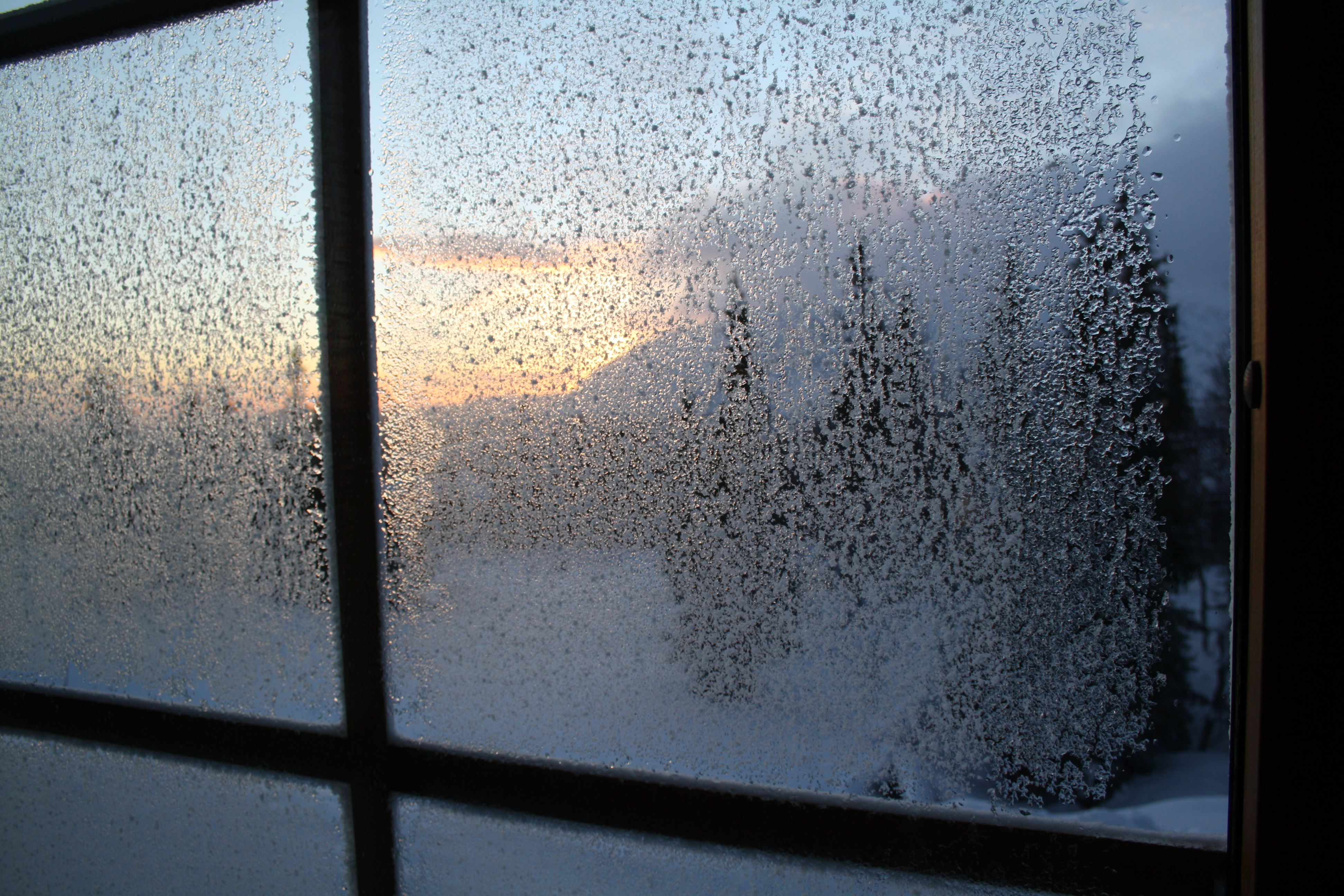 Glacerat fönster
