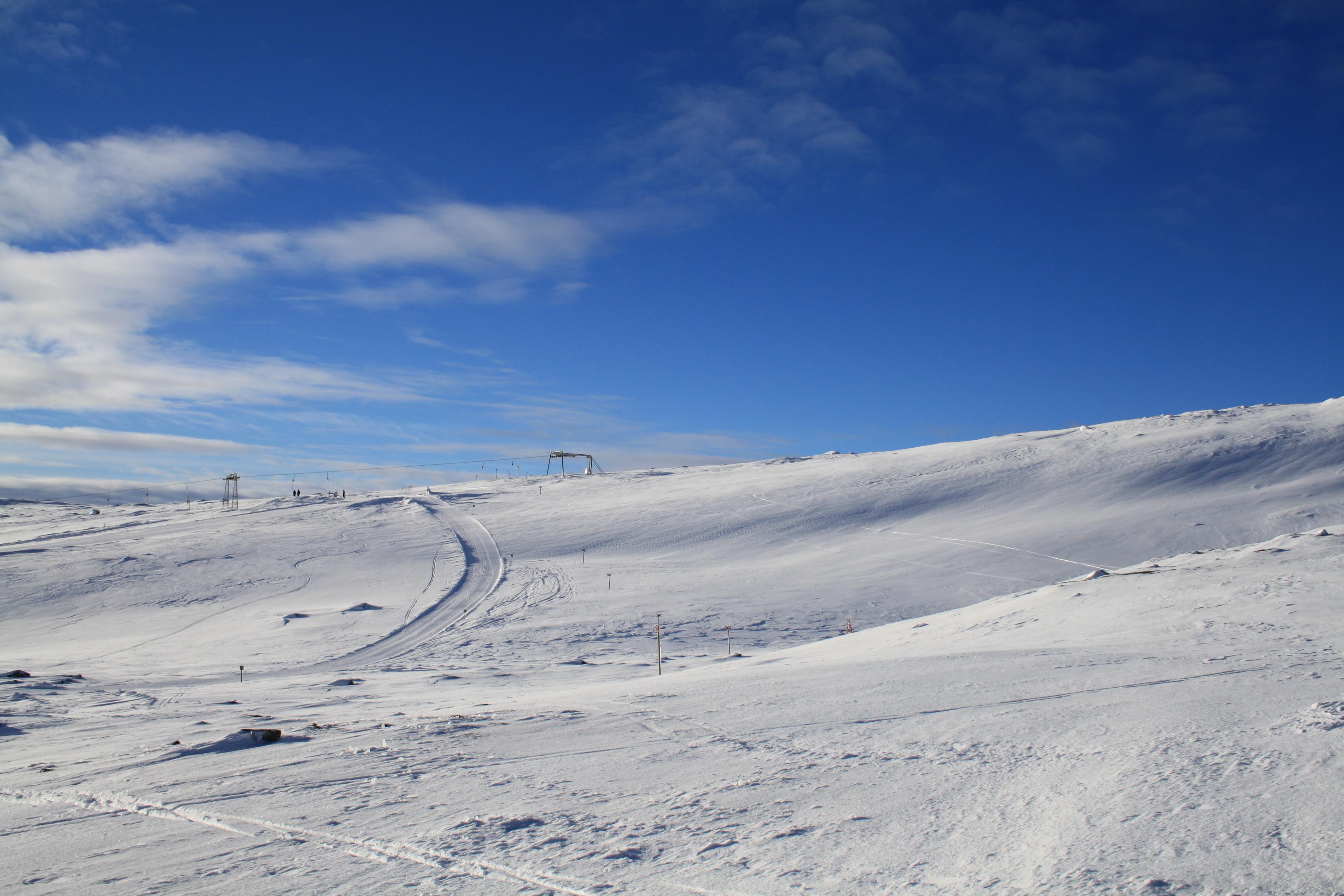 Toppen av Högfjällsliften Bydalen