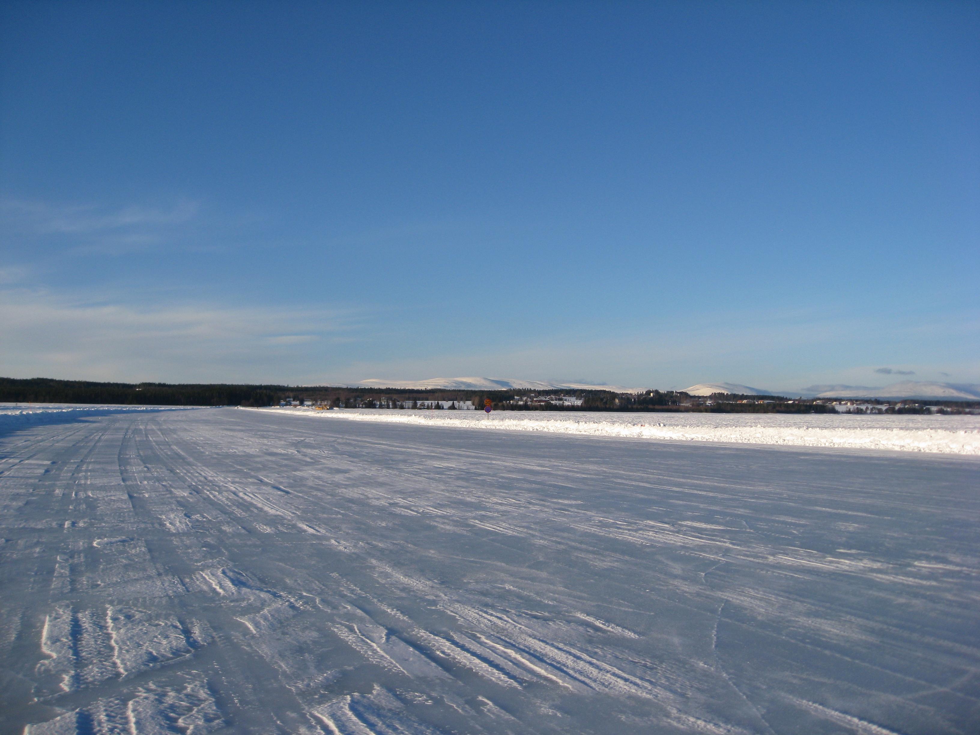 Isväg Storsjön